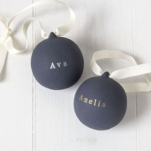 Metallic Ceramic Baubles